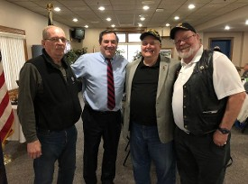 Charlie Russell, Senator Donnelly, Don Hawkins & Dave Sassman