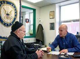 Veteran Service Officer Helping a Veteran