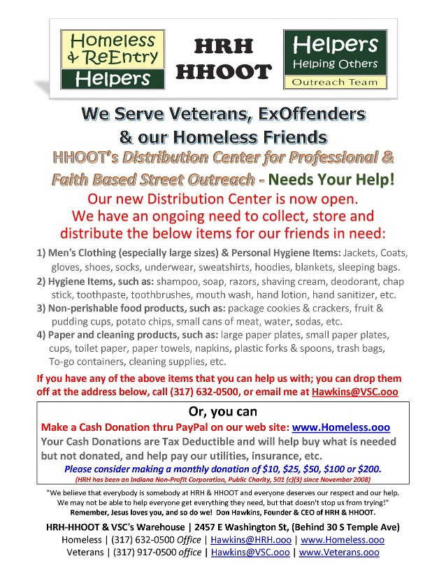 HRH-HHOOT's Donation Flyer