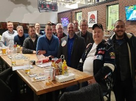 Marine for Life gang at the Daredevil Brewing in Speedway