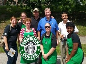 Mayor Ballard & the Starbucks Volunteers